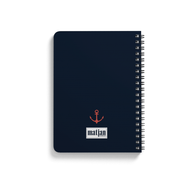 "anchor pattern spiral notebook back | սպիռալով նոթատետր ""anchor''"