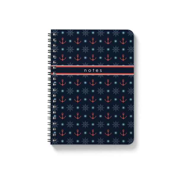 "anchor pattern spiral notebook | սպիռալով նոթատետր ""anchor''"