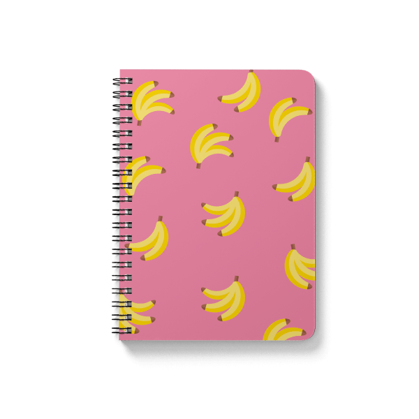 banana pattern spiral notebook | սպիռալով նոթատետր ''banana''