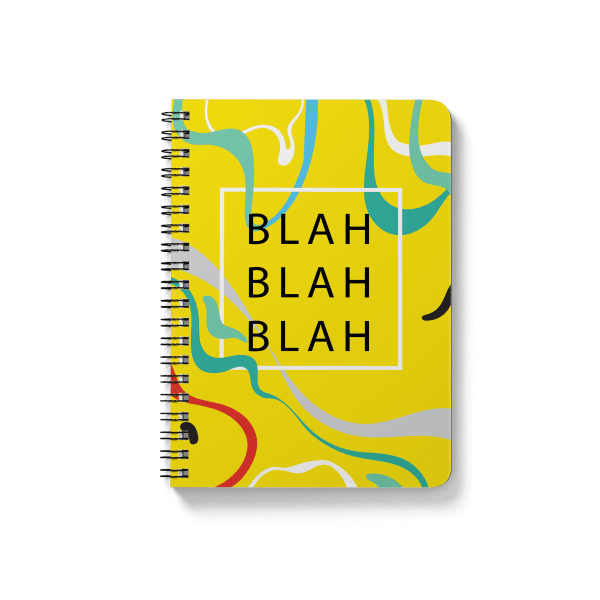 blah blah pattern spiral notebook | սպիռալով նոթատետր ''blah-blah''