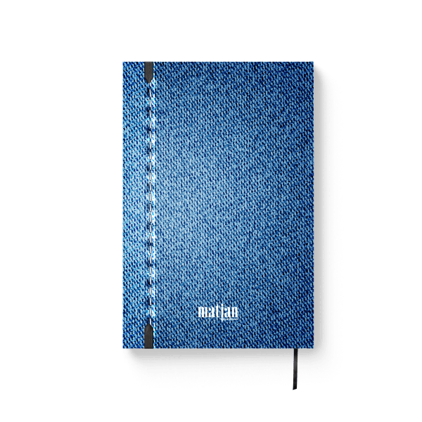 denim style journal notebook back