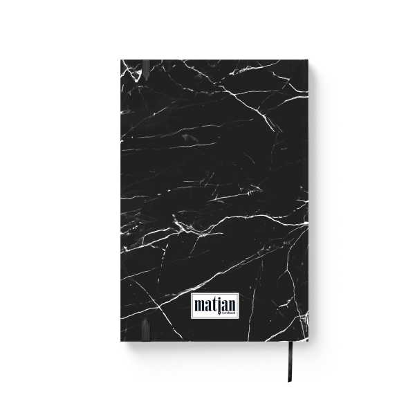black marble journal notebook back