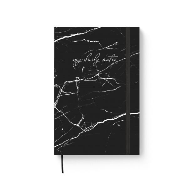 black marble journal notebook | ռեզինով նոթատետր ''black marble''