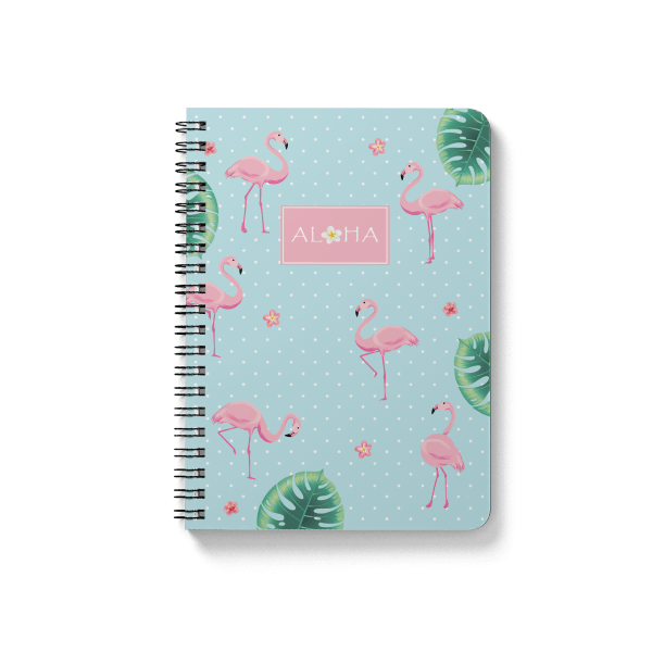 flamingo pattern spiral notebook | սպիռալով նոթատետր ''flamingo''