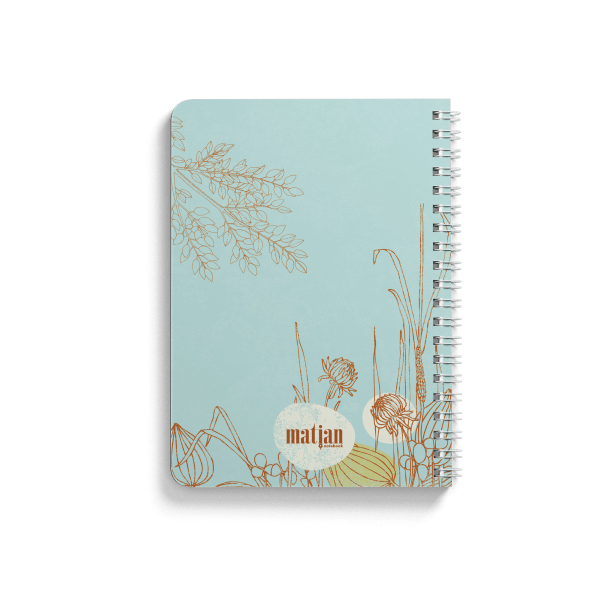 dandelion design spiral notebook back