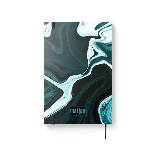 blue marble journal notebook back