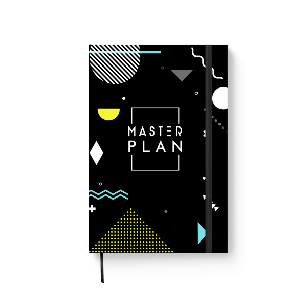 master plan journal notebook | ռեզինով նոթատետր ''master plan''