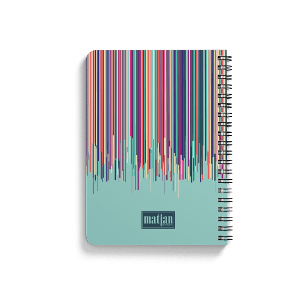 colorful memory notebook back