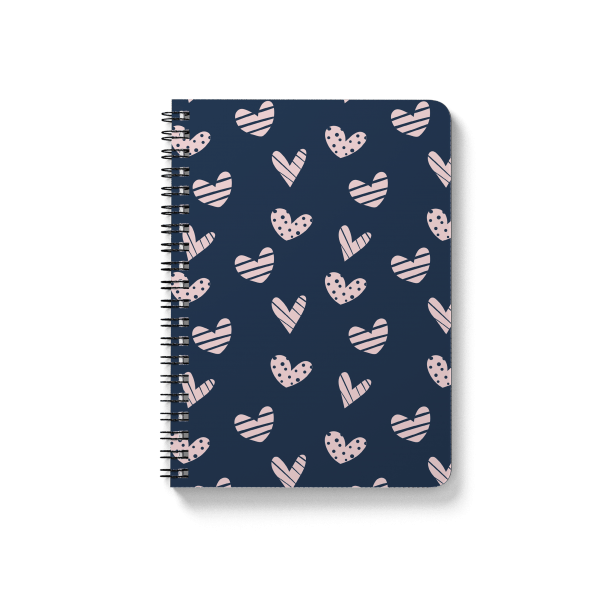 pink hearts pattern spiral notebook | սպիռալով նոթատետր ''pink hearts''