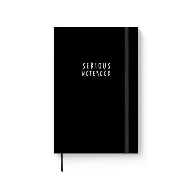 black serious spiral notebook | ռեզինով նոթատետր ''serious notebook''