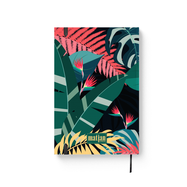 tropical design journal notebook back