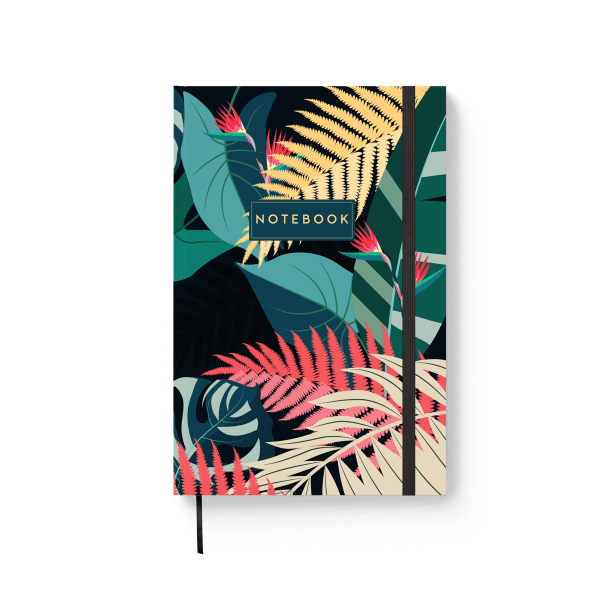 tropical design journal notebook | ռեզինով նոթատետր ''tropical''