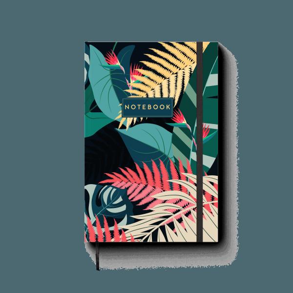 tropical design journal notebook | ռեզինով նոթատետր ''tropical''