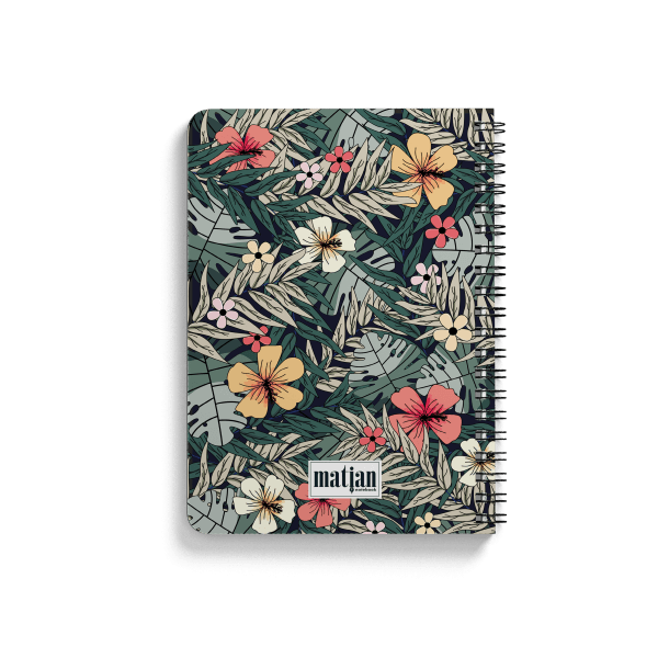 tropical spiral notebook back