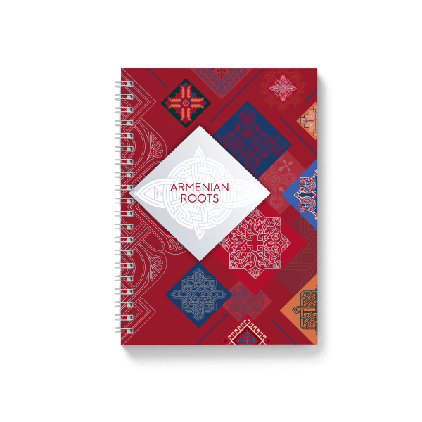 armenian roots red spiral notebook | սպիռալով նոթատետր ''armenian roots''