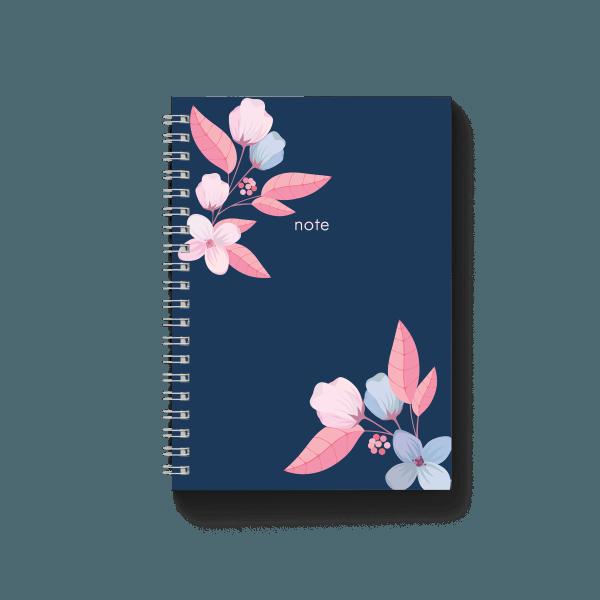 blue notebook with floral design | սպիռալով նոթատետր ''blue note''