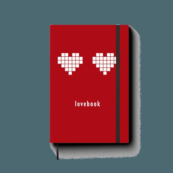 lovebook journal notebook | ռեզինով նոթատետր ''lovebook''