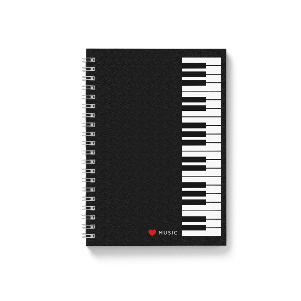 piano design spiral notebook | սպիռալով նոթատետր ''piano''