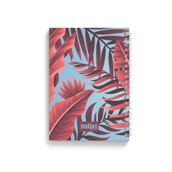 tropical banana spiral notebook back