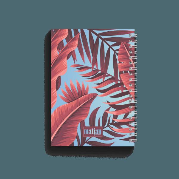 tropical banana spiral notebook back