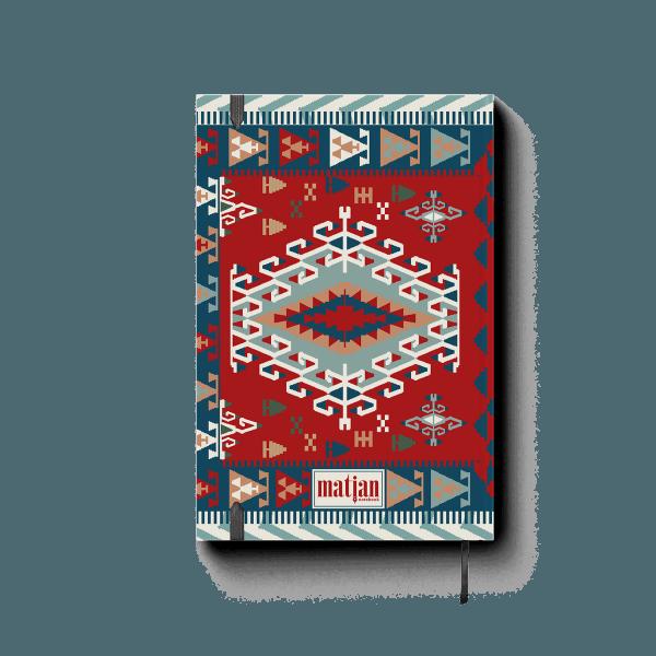 armenian carpet journal notebook back