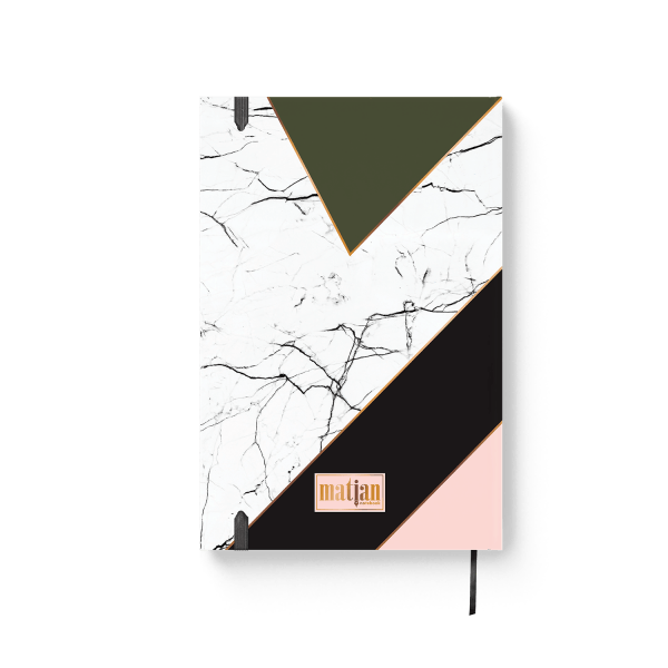 mixed design journal notebook back