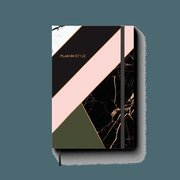 mixed design journal notebook | ռեզինով նոթատետր ''plan in style''