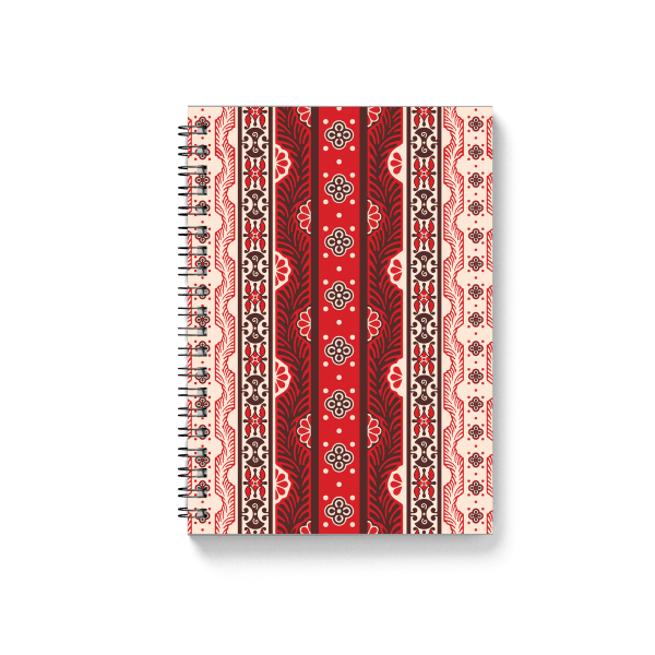 armenian ornaments spiral notebook back