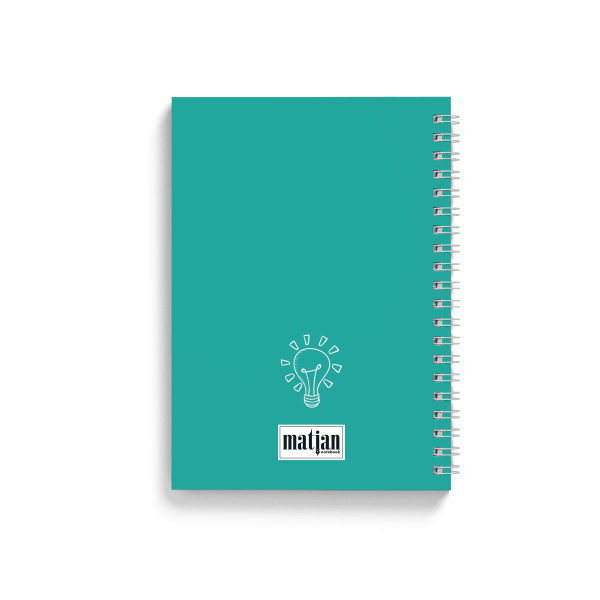 cactus design spiral notebook back