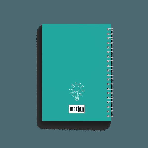 cactus design spiral notebook back