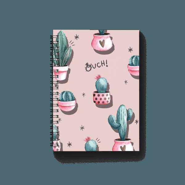 pink cactus pattern spiral notebook | սպիռալով նոթատետր ''pink cactus''