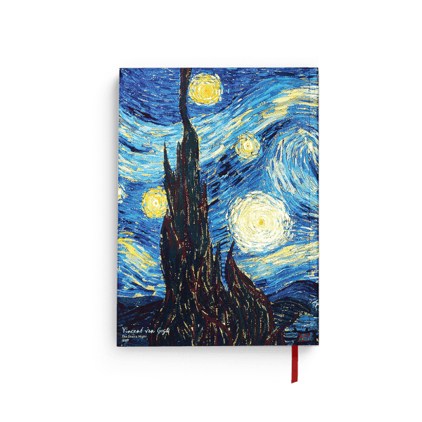 """The Starry Night"" notebook back"