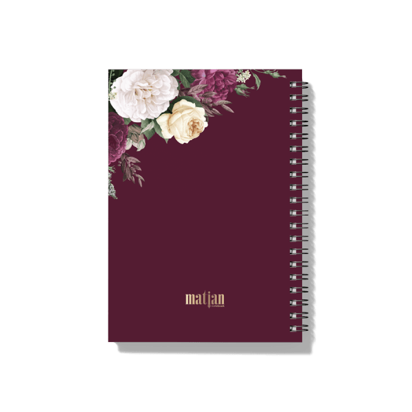 Floral Burgundy